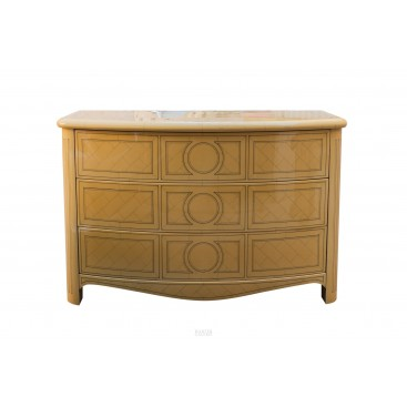 Jean Claude Mahey, Tomb Commode, Wood and Lacquer, circa 1970, France