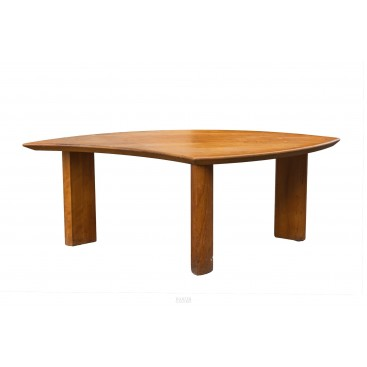 Pierre Chapo, Coffee Table, Wood, circa 1970, France