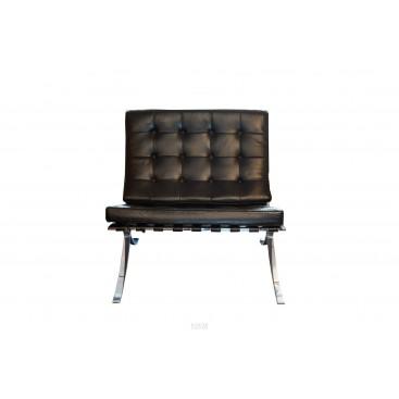 Ludwig Mies van der Rohe, Pair of Barcelona armchairs, circa 1960, Italy