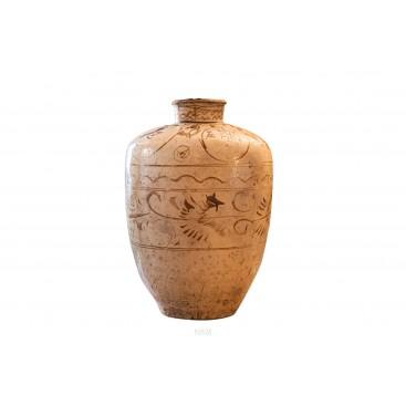 Cizhou Jar, Terracotta and brown slip, XIVth Century, China