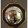 Oval Wall Mirror in the Style of Maison Jansen, circa 1970, France.
