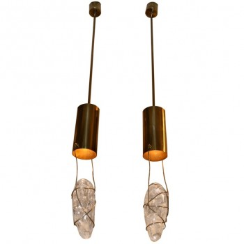 Pair of floor lamps by Angelo Brotto, Circa 1970, Italy.