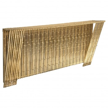Ferruccio Laviani Console Table in Gold-Plated Brass, circa 2010, Italy.