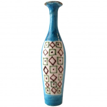 Guido Gambone, Signed Ceramic Bottle, Circa 1960, Italy.