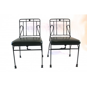 Diego Giacometti, pair of larges Bronze Chairs, circa 1955, France