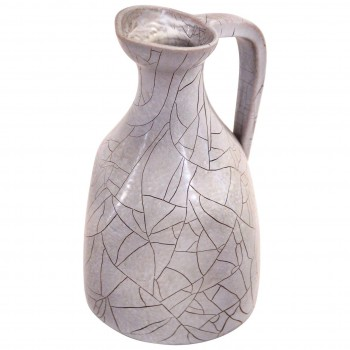 Accolay, Pitcher, Glazed Ceramic, Signed, circa 1970, France.