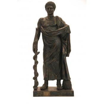Esculape Bronze Statue, Signed, Grand Tour, circa 1900, Italy.