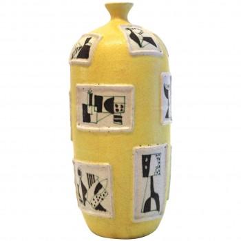Guido Gambone Ceramic Vase, Italy, Circa 1950.