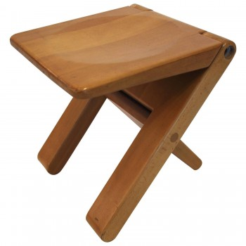 Marcel Ramond (1935) stool, beech, Form Design edition, Circa 1979 France.