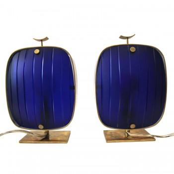 Max Ingrand, Pair of lamps, Production Fontana Arte, Circa 1960, Italy.
