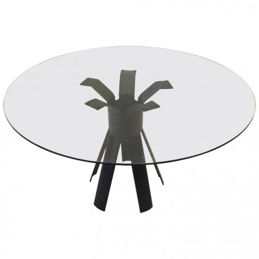 "Angelo Mangiarotti, Dining Room Table, Model ""Longobardo,"" circa 1970, Italy."