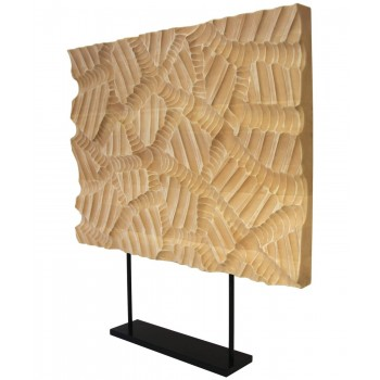 Decorative panel signed Giuseppe Rivadossi, wood, circa 2010, Italy.