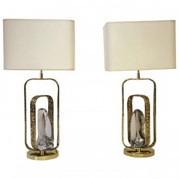 Angelo Brotto, Pair of lamps, Esperia edition, circa 2000, Italy.