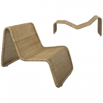 "Tito Agnoli, Armchair and ""BR 3"" chaise longue, wicker, circa 1962, Italy."