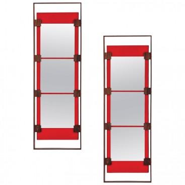 Ico Parisi, Pair of wall mirrors, Production Stildomus, Circa 1960, Italy.