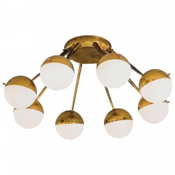 Stilnovo, Ceiling height lights, Production Stilnovo, Circa 1950, Italy.
