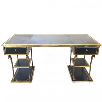 Elegant Flat Desk Neo-classical in the Style of Marc du Plantier, circa 1960