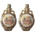 """Pair of spectacular """" Stasuma"""" vases, glazed ceramic, Circa 1970, China."""