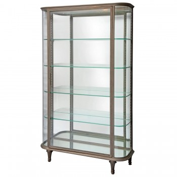 Showcase, Steel and Curved Glass, Circa 1900, France.