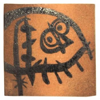 Joan Miro Glazed Ceramic, Signed and Numerated, Circa 1970, France.