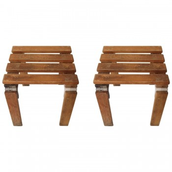 Georges Candilis and Anja Blomstedt, Pair of Stools