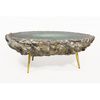 "Von Pelt, ""Osloer Blue"" Table, Circa 2010, Berlin, Germany, Unique Piece."