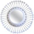 Georges Pelletier Ceramic Mirror, Signed, Circa 1970, France.