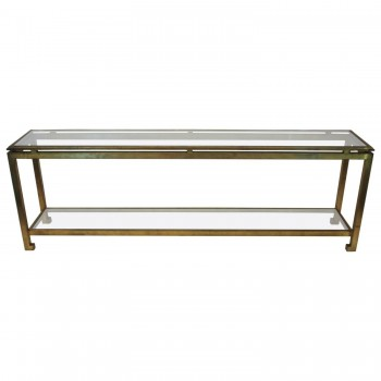 Maison Ramsay, Exceptional Console, Iron and Glass, Circa 1970, France.