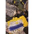 """Patrick Danion, Painting, """"Je suis un calculateur"""", Acrylic on wood, Signed, 1990, France."""