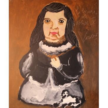 "Horacio Cordero, painting, ""La enana de Felipe IV"", Oil on canvas, Signed, 2009, Argentina."