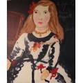 "Horacio Cordero, painting, ""The Infanta Maria Margarita"", Oil on canvas, Signed, 2009, France."