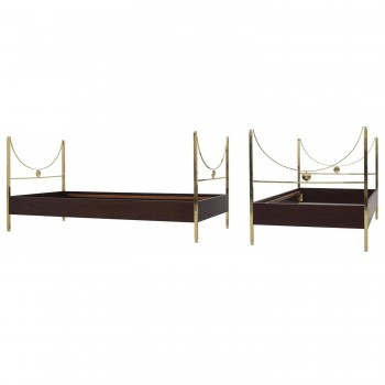 "Carlo Di Carli, ""D90"" Pair of Beds, Sormani Manufacturer, 1963, Italy."