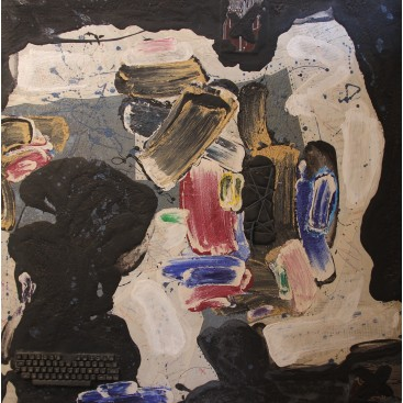 Patrick Danion, Requiem, Painting, Acrylic on Paper, Signed, 1989, France.