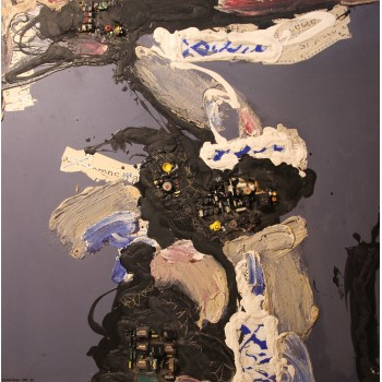 Patrick Danion, Programme crepuscule, Painting, Acrylic on wood, Signed, 1990, France.