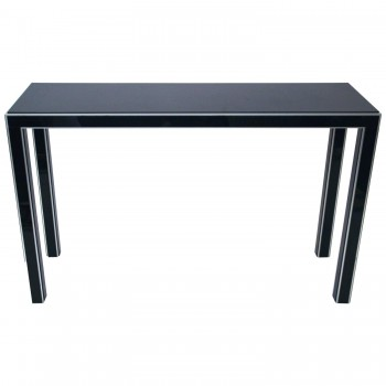Console, Black Formica and Metal, Circa 1970, France.