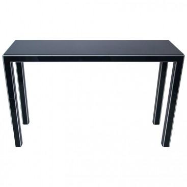 console formica noir et m tal circa 1970 france harter galerie. Black Bedroom Furniture Sets. Home Design Ideas