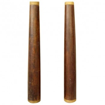 Pair of Large Columns in the Style of Eugene Printz, Mahogany, Circa 1930, France.