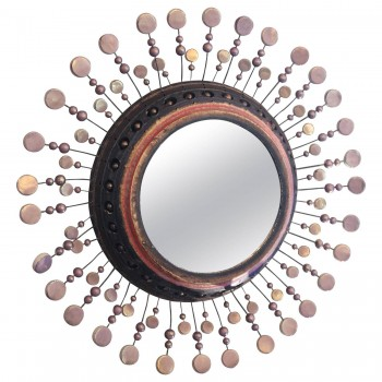 Georges Pelletier, Small Mirror Signed on the Back, Circa 1970, France.