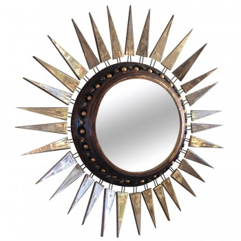 Georges Pelletier, Small Mirror, Signed on the Back, circa 1970, France.