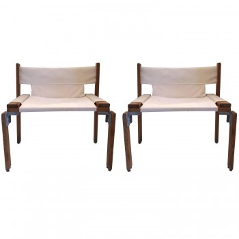 Georges Candilis and Anja Blomstedt, Pair of Armchairs, Circa 1969, Italy.