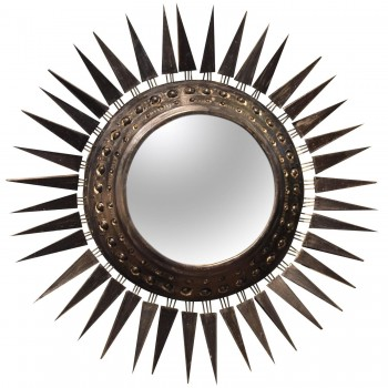 Georges Pelletier, Large Mirror, Signed on the Back, Circa 1970, France.