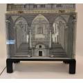 "Piero Fornasetti, Cabinet ""Trumeau Architettura"", Barnaba Edition, Circa 2000, Italy."