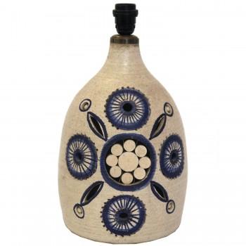 "Georges Pelletier, Lamp, Glazed Ceramic, ""Flower"" Model, Circa 1950, France."