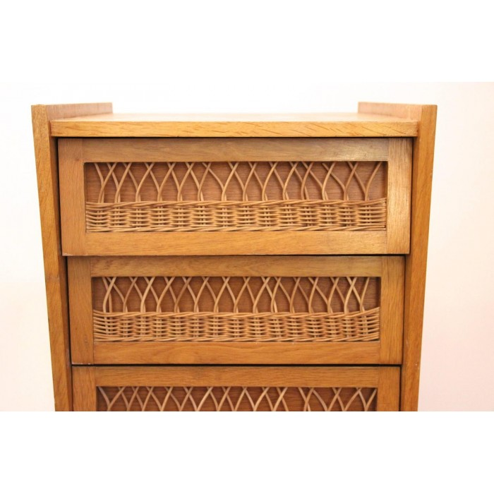 Buffets In The Style Of Audoux Minet Wood And Wicker Circa 1970 France Harter Galerie