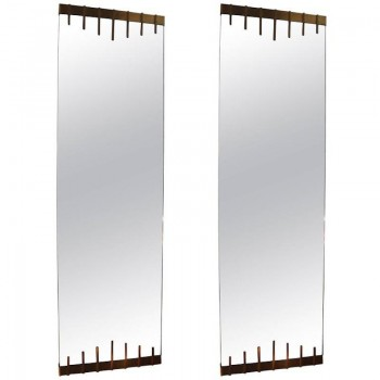 Pair of Wall Mirrors in the Style of Ettore Sottsass, Circa 1958, Italy.