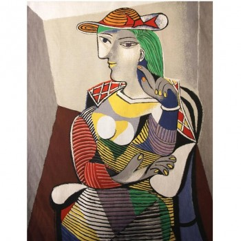 "After Pablo Picasso, ""Portrait de Marie Thérèse, 1937"" Tapestry, Circa 2010, France."