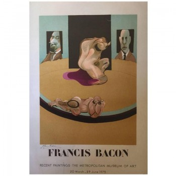 Francis Bacon Lithograph Poster, Signed and Numbered 91/200.