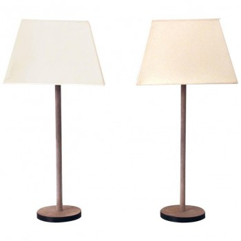 Pair of Lamps, Fabric and Metal, circa 1970, France