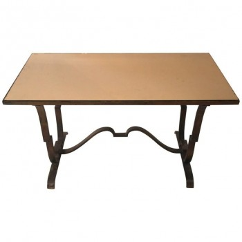 Raymond Subes, Coffee Table, Iron, France, circa 1970