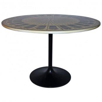 "Piero Fornasetti, Table ""Archittetura,"" Signed, circa 1960, Italy"